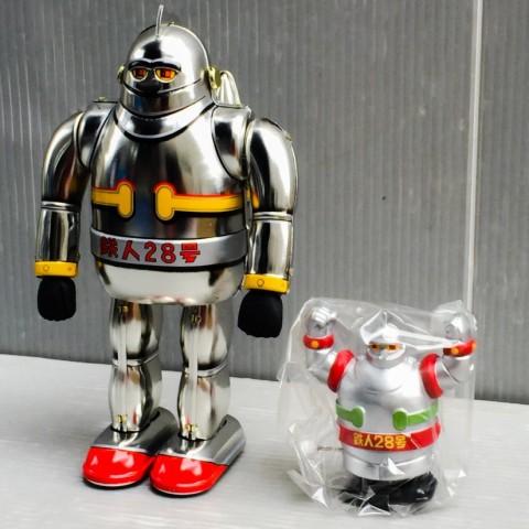 大阪ブリキ玩具資料室製 鉄人28号ミニ付き