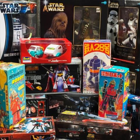 超合金魂、STAR WARS、ブリキロボット等おもちゃ大放出!