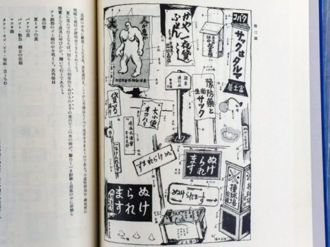 吉田謙吉編著『考現学採集』より「東京某暗黒街分析」